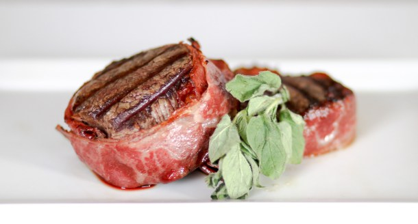 Beef Bacon-Wrapped Filet Mignon by Diverse Dinners