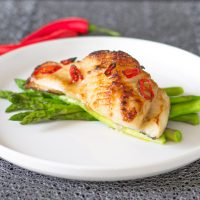 Bourbon Glazed Chilean Sea Bass