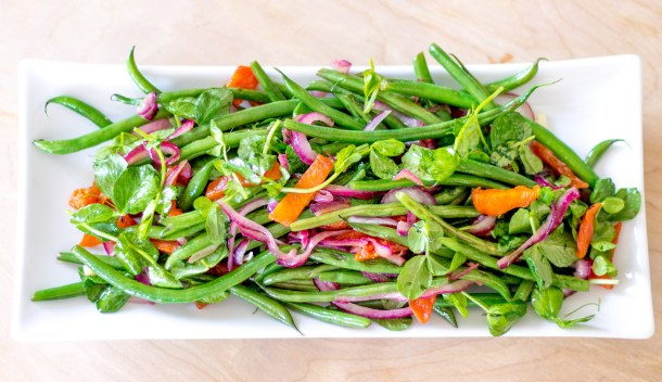 Apricot French Bean Salad by Diverse Dinners