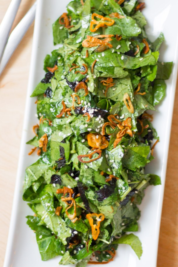 Spicy Kale and Seaweed Salad by Diverse Dinners