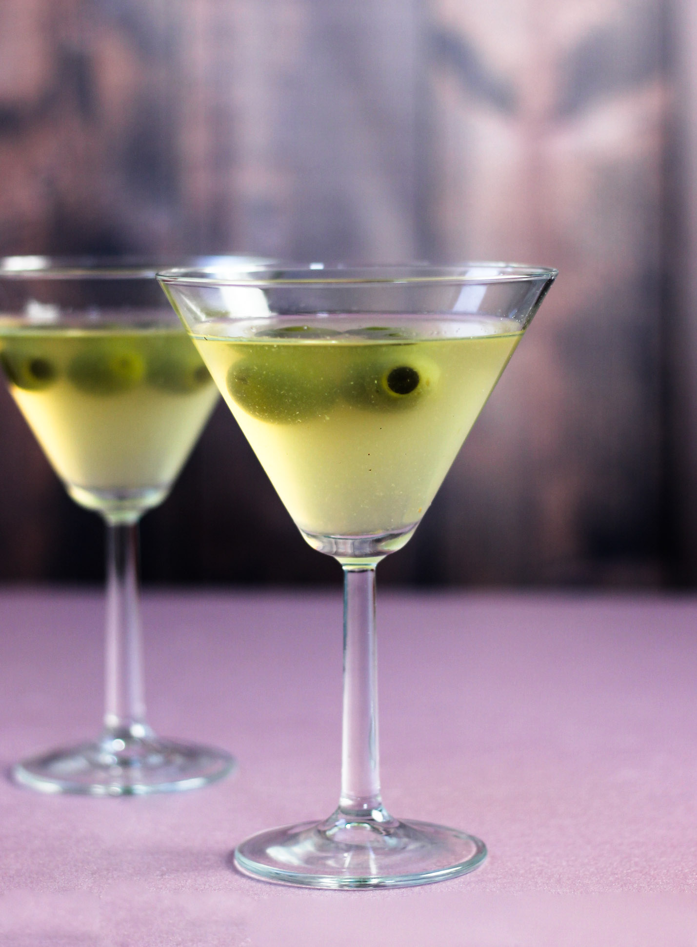 hot and dirty vodka martini