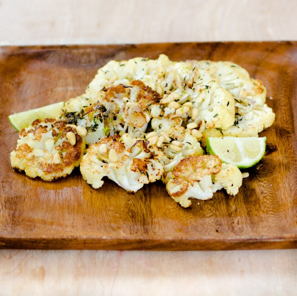 Thyme Roasted Cauliflower by Diverse Dinners