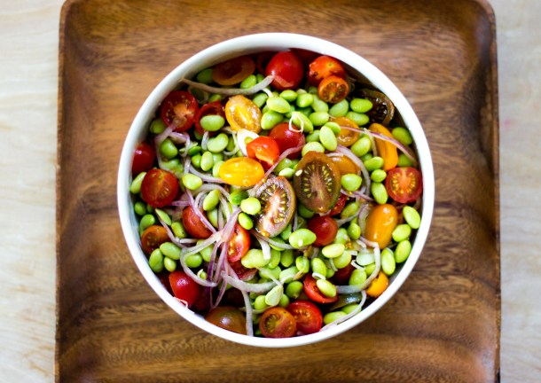 Cherry Tomato Edamame Salad by Diverse Dinners