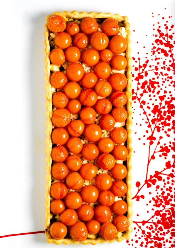 Cherry Tomato Tart by Diverse Dinners