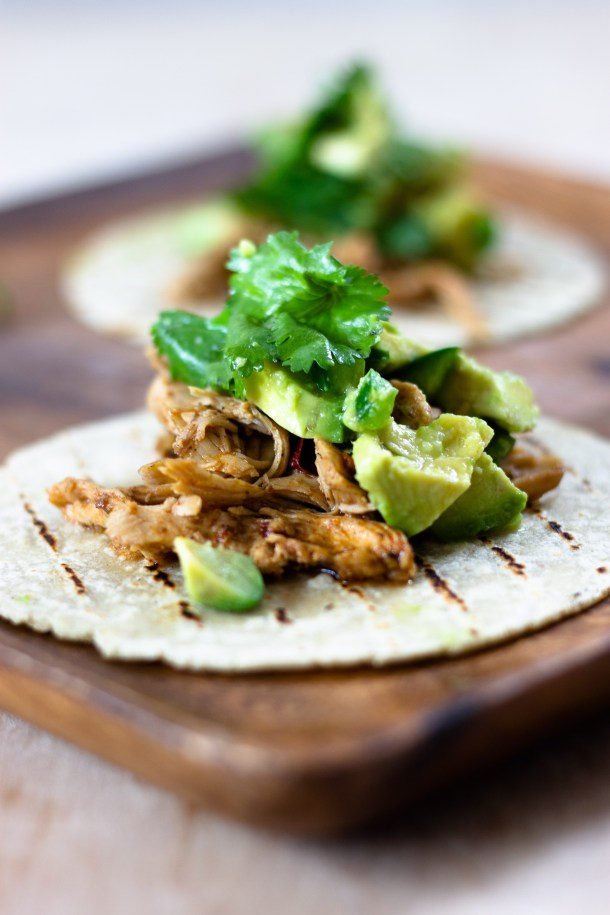 Beer Braised Chicken Tacos by Diverse Dinners