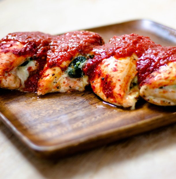 Spinach Provolone Stuffed Chicken Breasts by Diverse Dinners