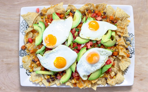 Meatless Breakfast Nachos by Diverse Dinners