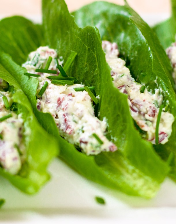 Triple Cheese Lettuce Wrap Canapes by Diverse Dinners