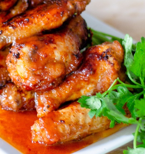 Spicy Baked Chicken Wings by Diverse Dinners