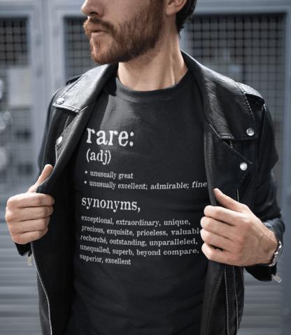 rare definition t shirt mock up