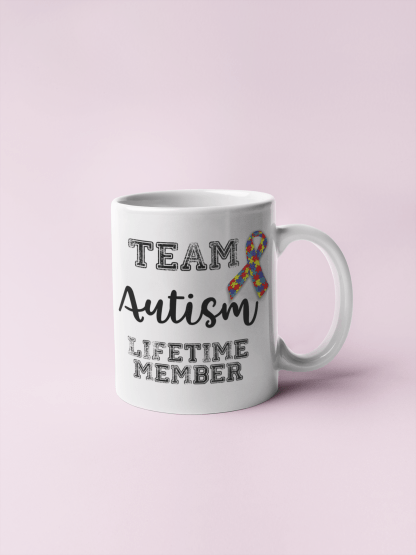Team Autism – Lifetime Member Mug