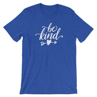 be kind shirt mockup heather true royal