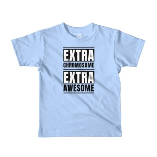 Extra chromosome extra awesome little kids shirt blue