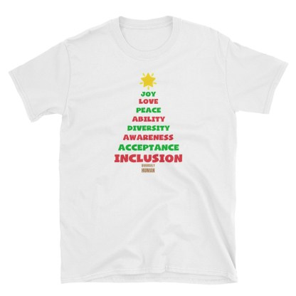 Positive Vibes Christmas Tree T-Shirt – NEW DESIGN FOR 2019!