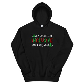 inclusive little christmas hoodie black