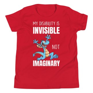 my disability is invisible kids shirt red
