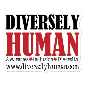 Diversely Human sticker mockup