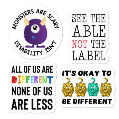 Disability Awareness sticker pack