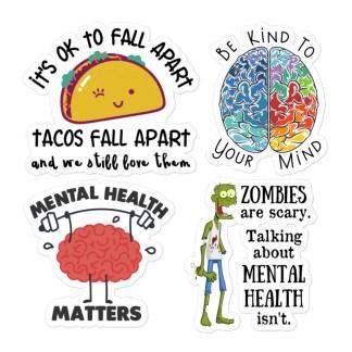Mental health sticker pack 1 mockup