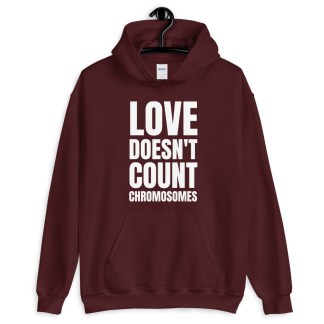 love doesn't count chromosomes hoodie