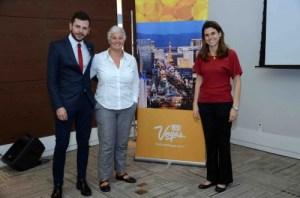 Renato Oliveira, de Las Vegas, Marta Dalla, da Abrat GLS, e MAria Camilla Alcorta, de Las Vegas