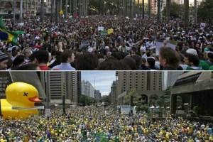 Por questões históricas, manifestantes de esquerda e direita preferem se concentrar em locais diferentes na capital paulista – Foto: Montagem
