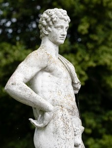 Copy of antique marble statue brought to Sweden by Gustav III during his voyage to Italy in 1783-84.