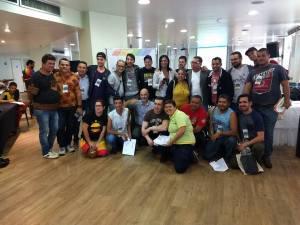 Foto do Encontro Brasileiro de Organizadores de Paradas, realizado em SP, momento que expirou o Grupo Gay de Alagoas a realizar o mesmo evento, a nível de Estado