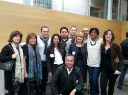 Los miembros del Comité Coordinador con algunos participantes en el Seminario