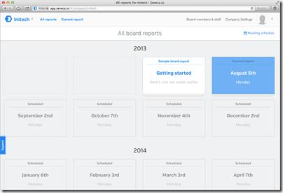 Seneca-io_Board-report-list-screen