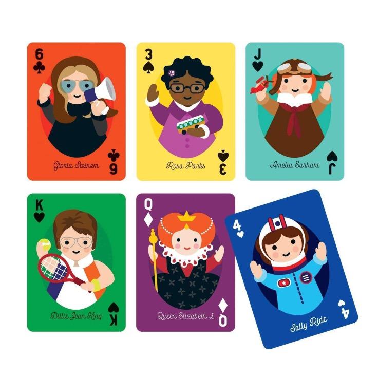 Little Feminist hracie karty rozbalené