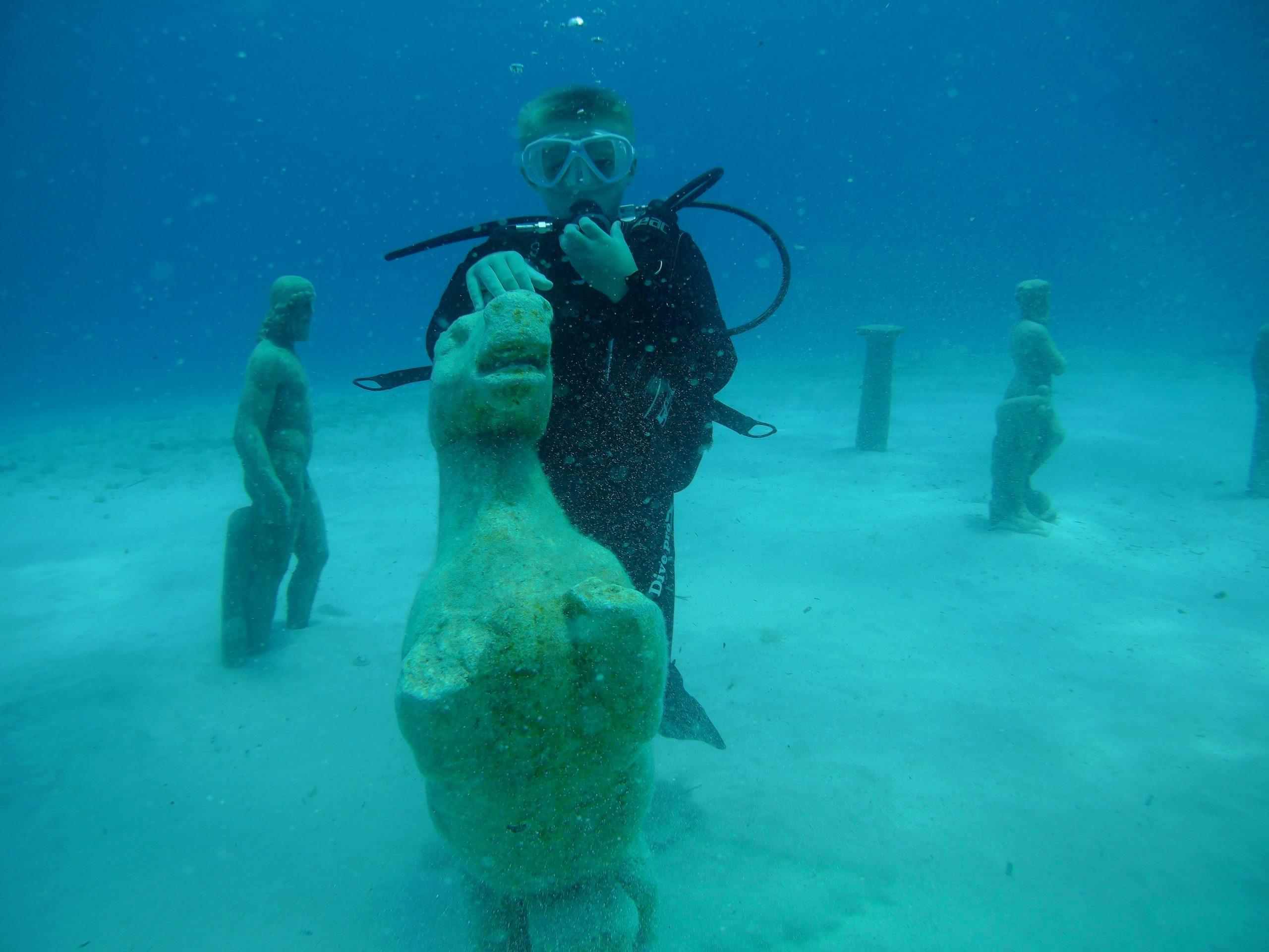 Child on Sea horse