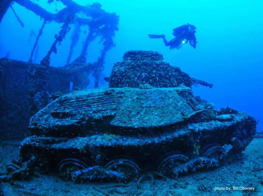 Diver Tank wreck