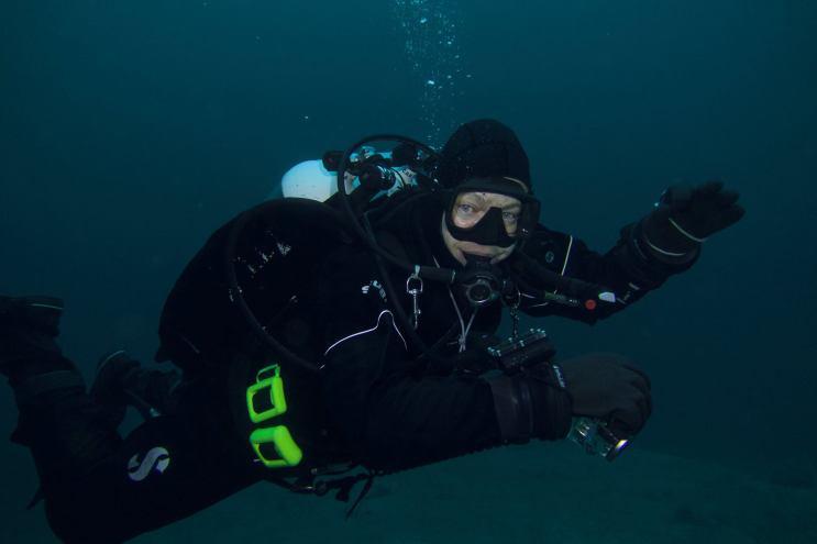 Dykker nærbilde