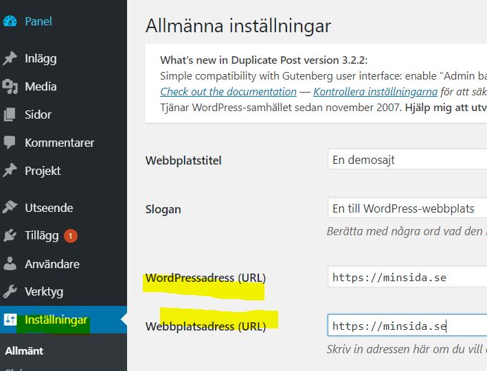 Flytta din Wordpress-sida till https 2