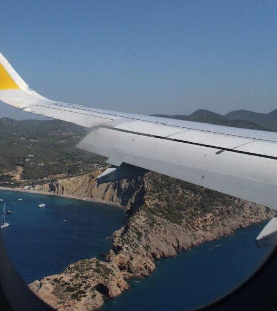 Ibiza desde el avión