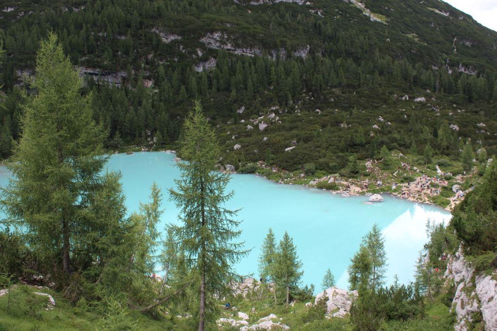 El alucinante color del Lago Sorapis