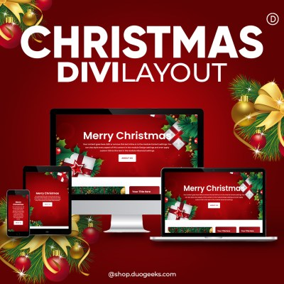 Divi Christmas Layout