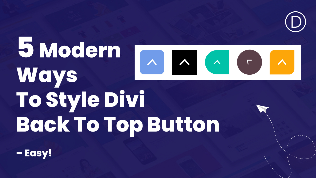 Style Divi Back To Top Button