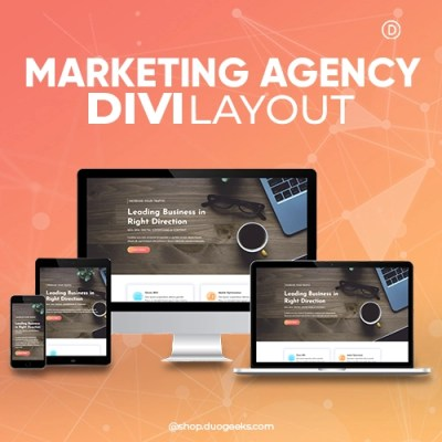 Divi Marketing Agency Layout