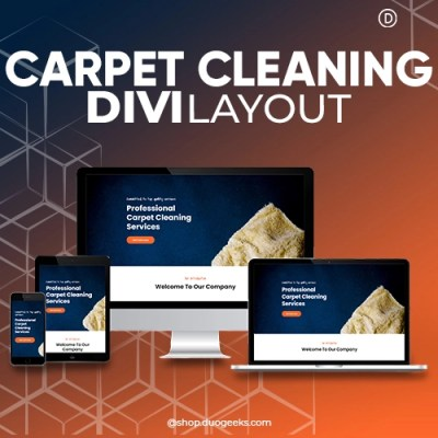 Divi Carpet Cleaning Layout