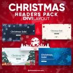 Divi Christmas Header Layout Pack