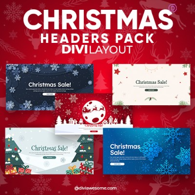 Divi Christmas Header Layout Pack
