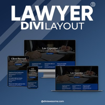 Divi Lawyer Layout