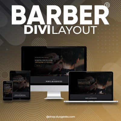 Divi barber layout
