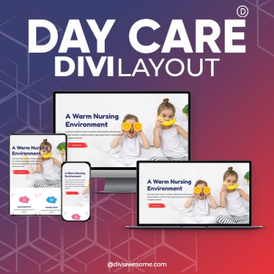 Divi Day Care Layout