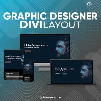Divi Graphic Designer Layout