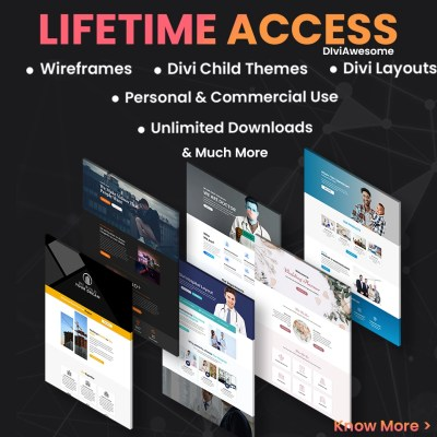 Divi Awesome Lifetime Access Pass