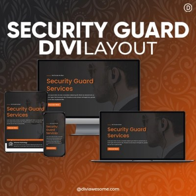 Divi Security Guard Layout