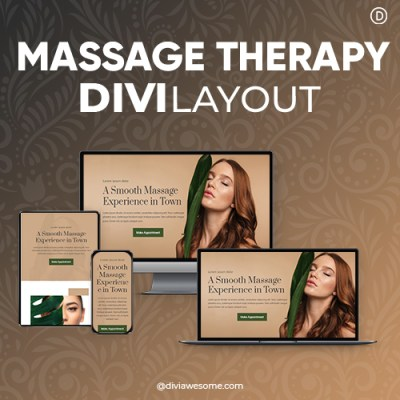 Divi Massage Therapy Layout